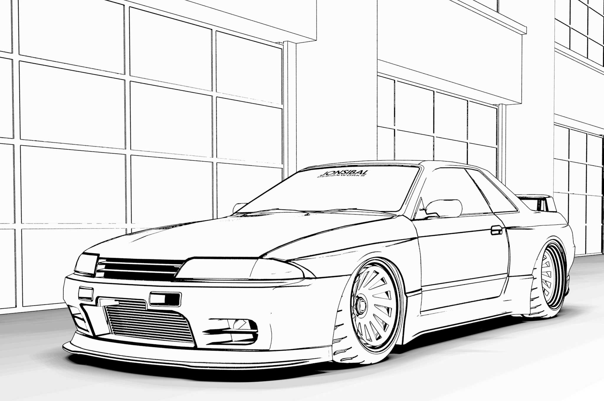 Free Car Colouring Pages Downloads Of Ferrari F40 Toyota Supra Nissan Gt R And More